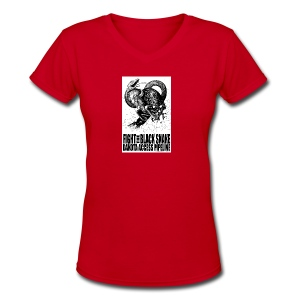 Fight the Black Snake NODAPL - Women's V-Neck T-Shirt