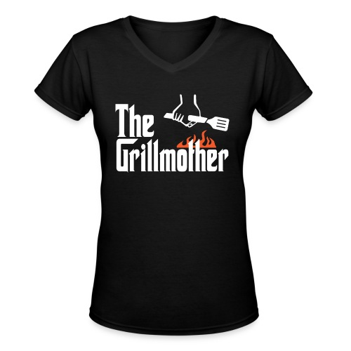 The Grillmother - Women's V-Neck T-Shirt