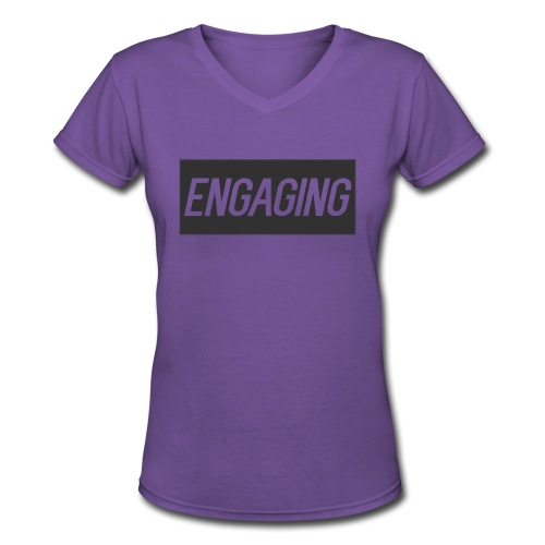 Engaging - Women's V-Neck T-Shirt