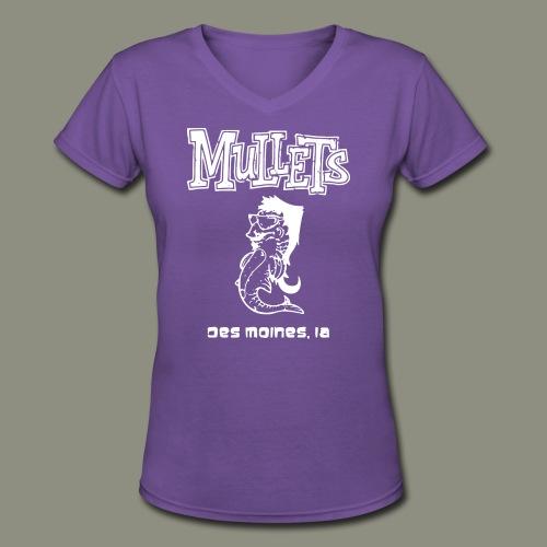 mulletmain white - Women's V-Neck T-Shirt