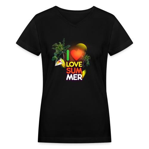 I love summer - Women's V-Neck T-Shirt