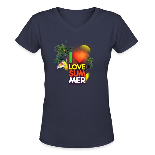 I love summer - Women's V-Neck T-Shirt