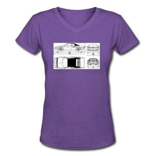 artists rendering - Women's V-Neck T-Shirt