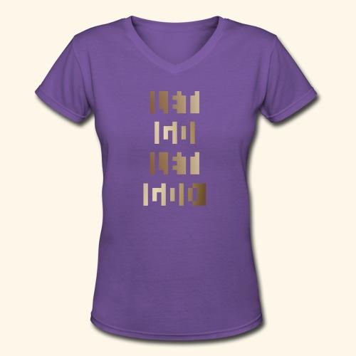 LET GO LET GOD LGLG #3 - Women's V-Neck T-Shirt