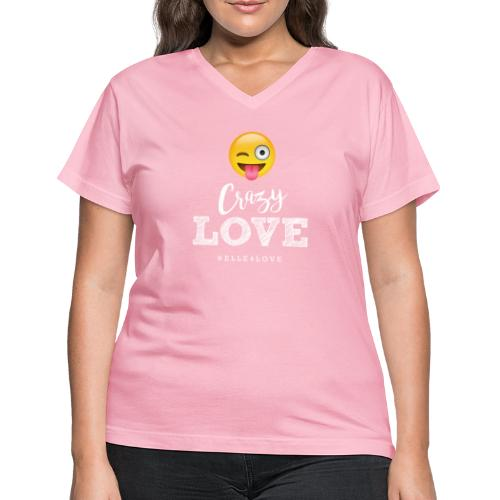 Crazy Love - Women's V-Neck T-Shirt