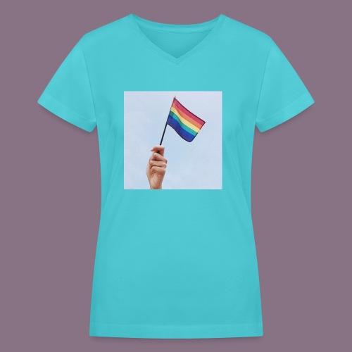 lgbt - Women's V-Neck T-Shirt