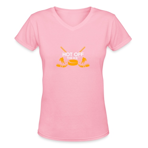 Hot Off The Ice - Women's V-Neck T-Shirt