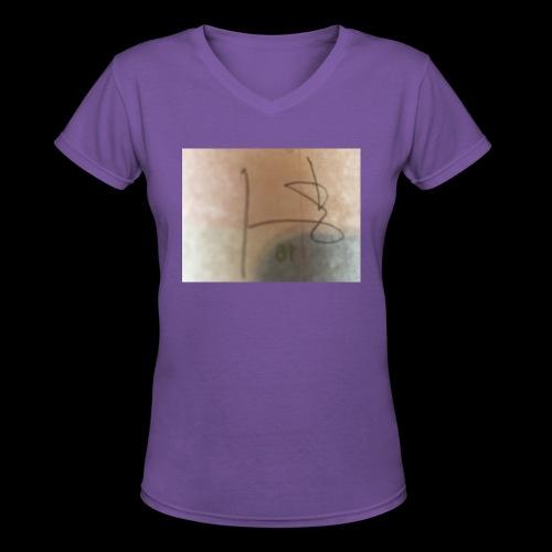 3F8A01D5 E08D 4B9C BEB2 5EB36D924760 - Women's V-Neck T-Shirt
