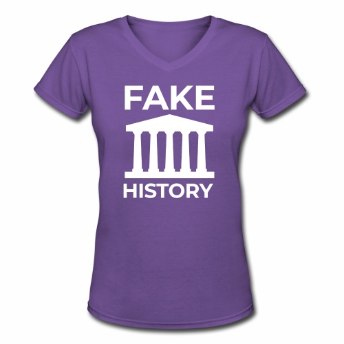 Fake History: Colonial Style Buildings Worldwide - Women's V-Neck T-Shirt
