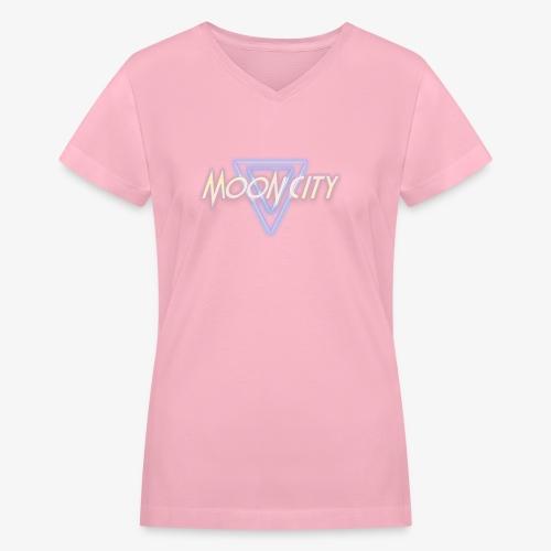 Moon City Logo - Women's V-Neck T-Shirt