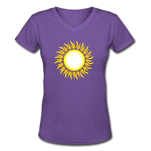sun png - Women's V-Neck T-Shirt