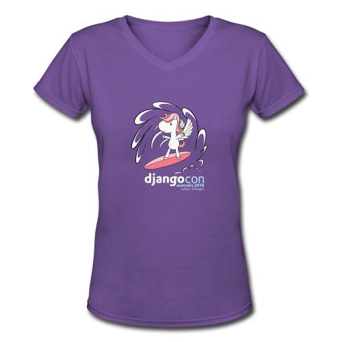 DjangoCon Australia 2018 - Women's V-Neck T-Shirt