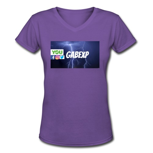 gabexp 1 - Women's V-Neck T-Shirt