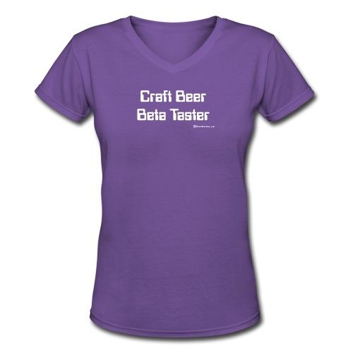 Craft Beer Beta Taster white png - Women's V-Neck T-Shirt