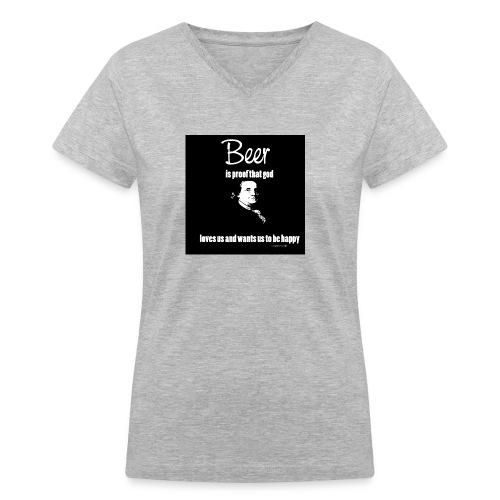 Beer T-shirt - Women's V-Neck T-Shirt