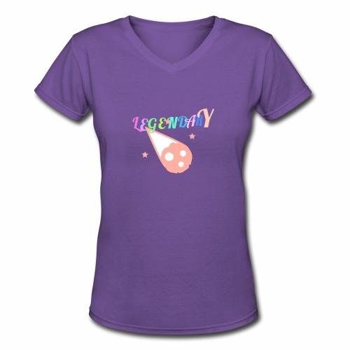 Legendary - Women's V-Neck T-Shirt