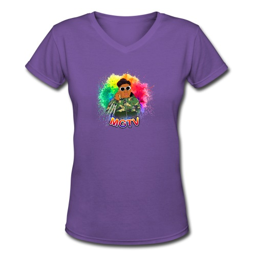 NEW MGTV Clout Shirts - Women's V-Neck T-Shirt