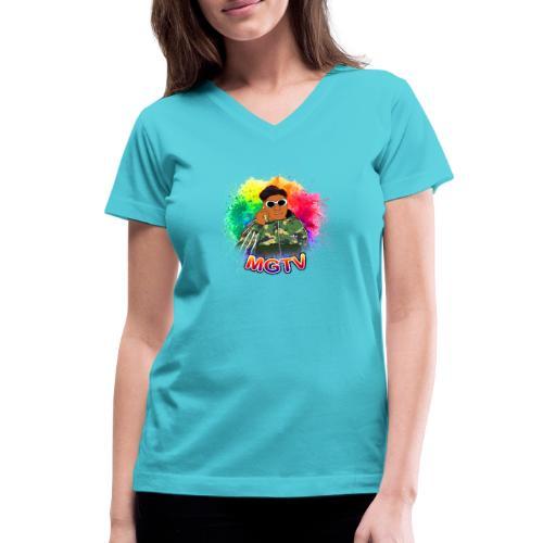 NEW MGTV Clout Shirts - Women's V-Neck T-Shirt