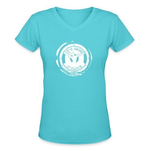 It's Gainz O'Clock - Women's V-Neck T-Shirt