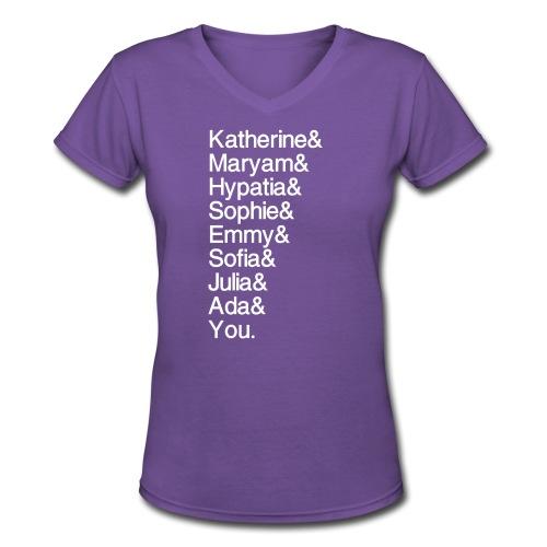 Women in Math (& You!) - Women's V-Neck T-Shirt