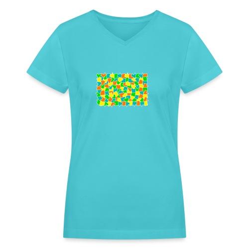 Dynamic movement - Women's V-Neck T-Shirt