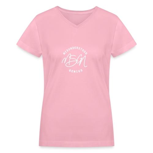 MSGN Logo - Women's V-Neck T-Shirt