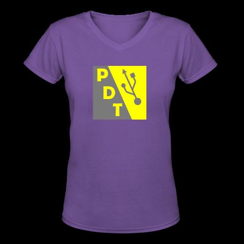 PDT Logo - Women's V-Neck T-Shirt