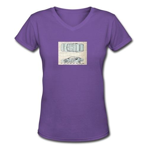 drawings - Women's V-Neck T-Shirt