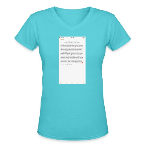 Text from a Football Commit - Women's V-Neck T-Shirt