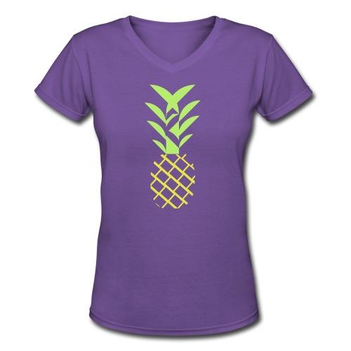 Pineapple flavor - Women's V-Neck T-Shirt