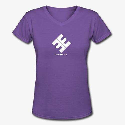 Everybody Eats Official Logo - Women's V-Neck T-Shirt