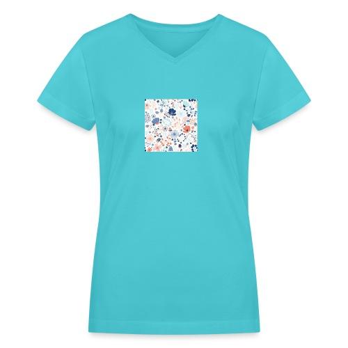 flowers - Women's V-Neck T-Shirt