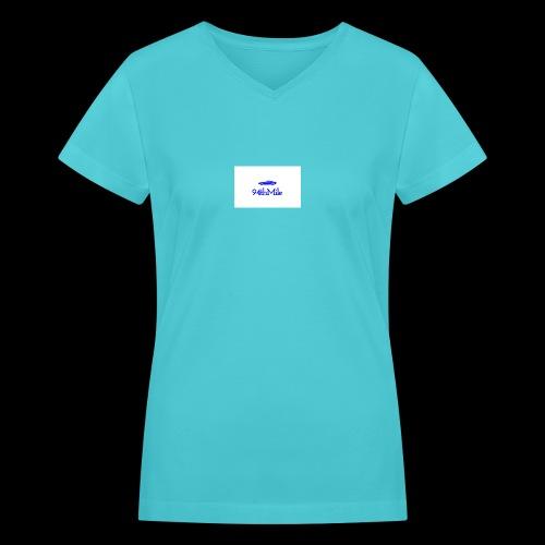 Blue 94th mile - Women's V-Neck T-Shirt