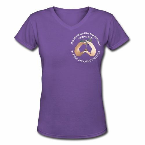 2017 Conference for Dark backgrounds - Women's V-Neck T-Shirt