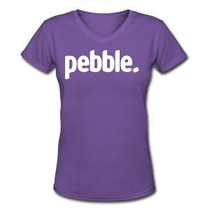 Pebble. V2 - Women's V-Neck T-Shirt