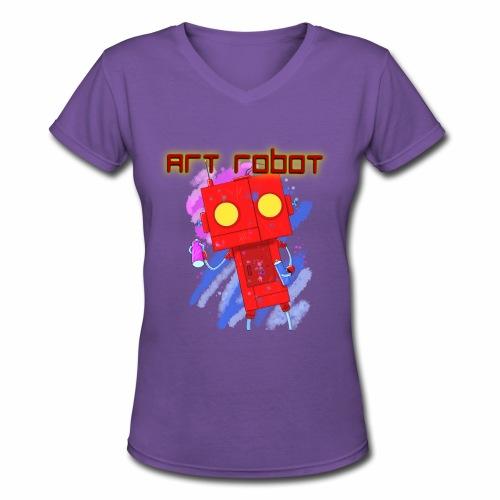 Art Robot - Women's V-Neck T-Shirt