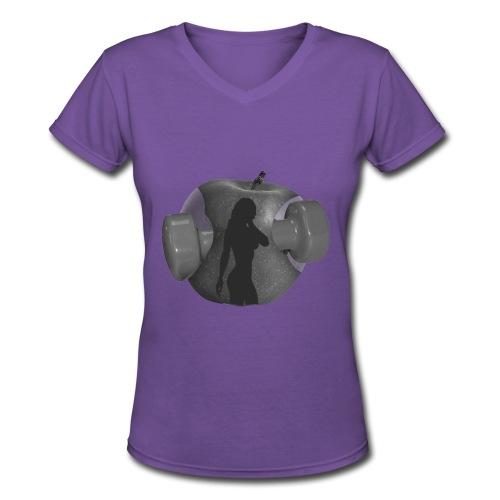 PrettyKeli's Pretties Logo White - Women's V-Neck T-Shirt