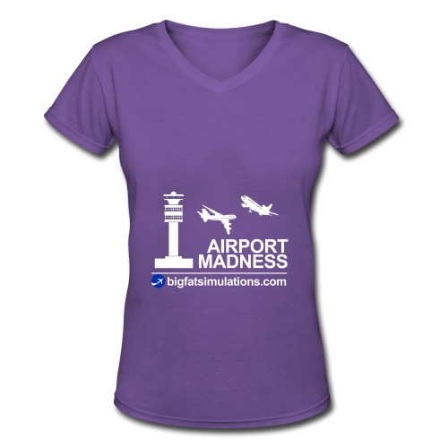The Official Airport Madness Shirt! - Women's V-Neck T-Shirt