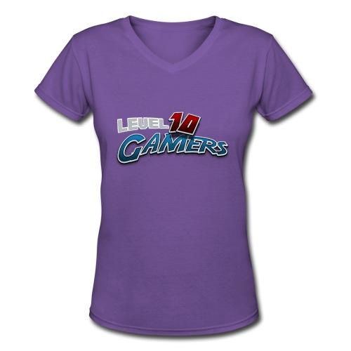 Level10Gamers Logo - Women's V-Neck T-Shirt
