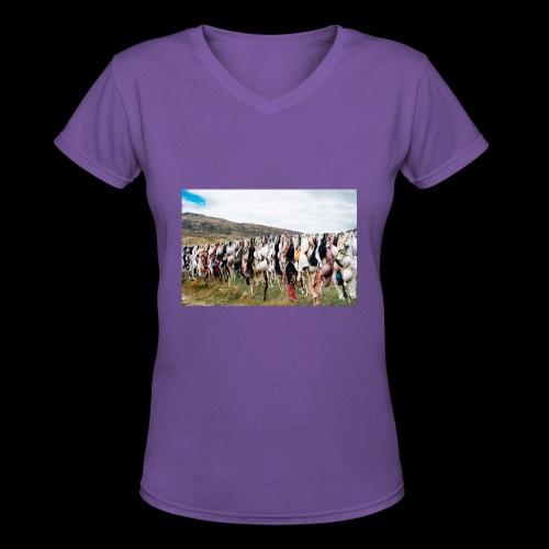 Bras Tee - Women's V-Neck T-Shirt