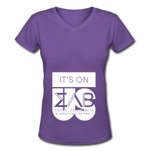 Its On Betas White - Women's V-Neck T-Shirt