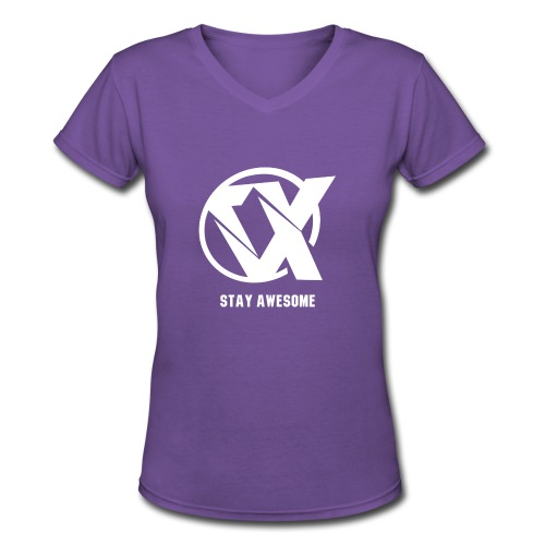 Vlex Stay Awesome Shirt (Officiel) - Women's V-Neck T-Shirt