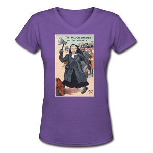 Saloon Smasher - Women's V-Neck T-Shirt