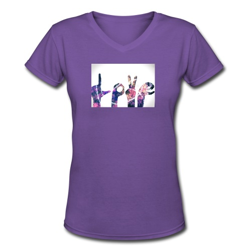 Love Hands - Women's V-Neck T-Shirt