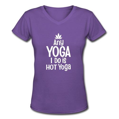 Women's short sleeve yoga t-shirt - Women's V-Neck T-Shirt