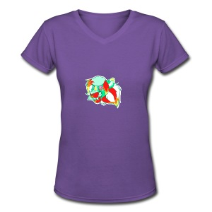 Psychedelic Lion - Women's V-Neck T-Shirt