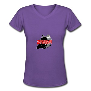 2 Wheeled Thereapy - Women's V-Neck T-Shirt