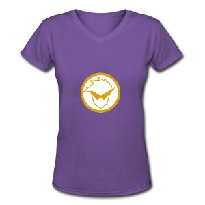 FG Phone Cases (Pure Clean Gold) - Women's V-Neck T-Shirt