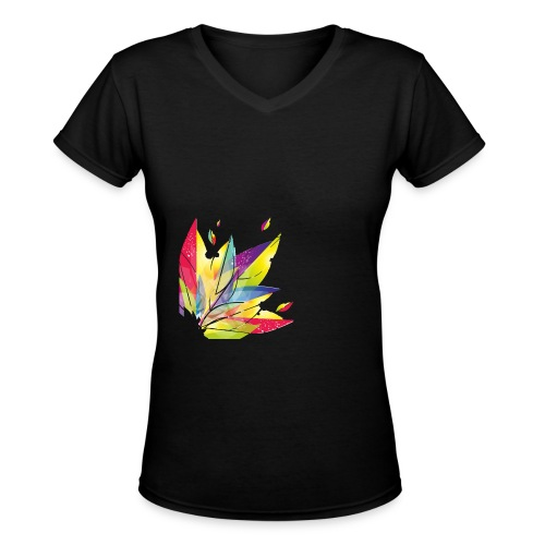 Beautifully Colorful - Women's V-Neck T-Shirt