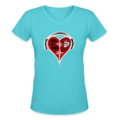 Axelofabyss Music in your heart - Women's V-Neck T-Shirt